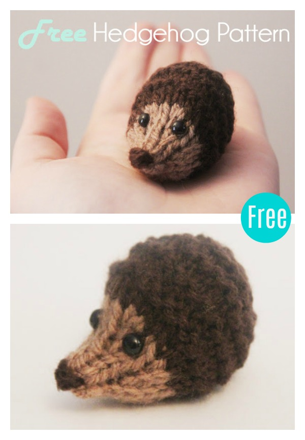 Amigurumi Hedgehog Free Knitting Pattern