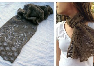 Antelope Island Lace Scarf Free Knitting Pattern