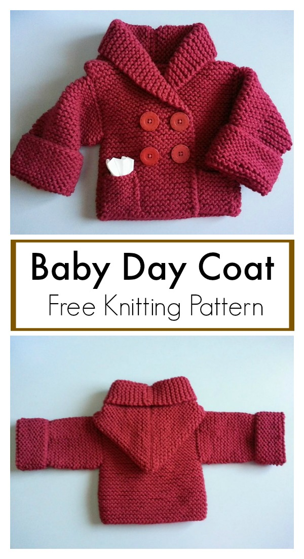 Baby Day Coat Free Knitting Pattern