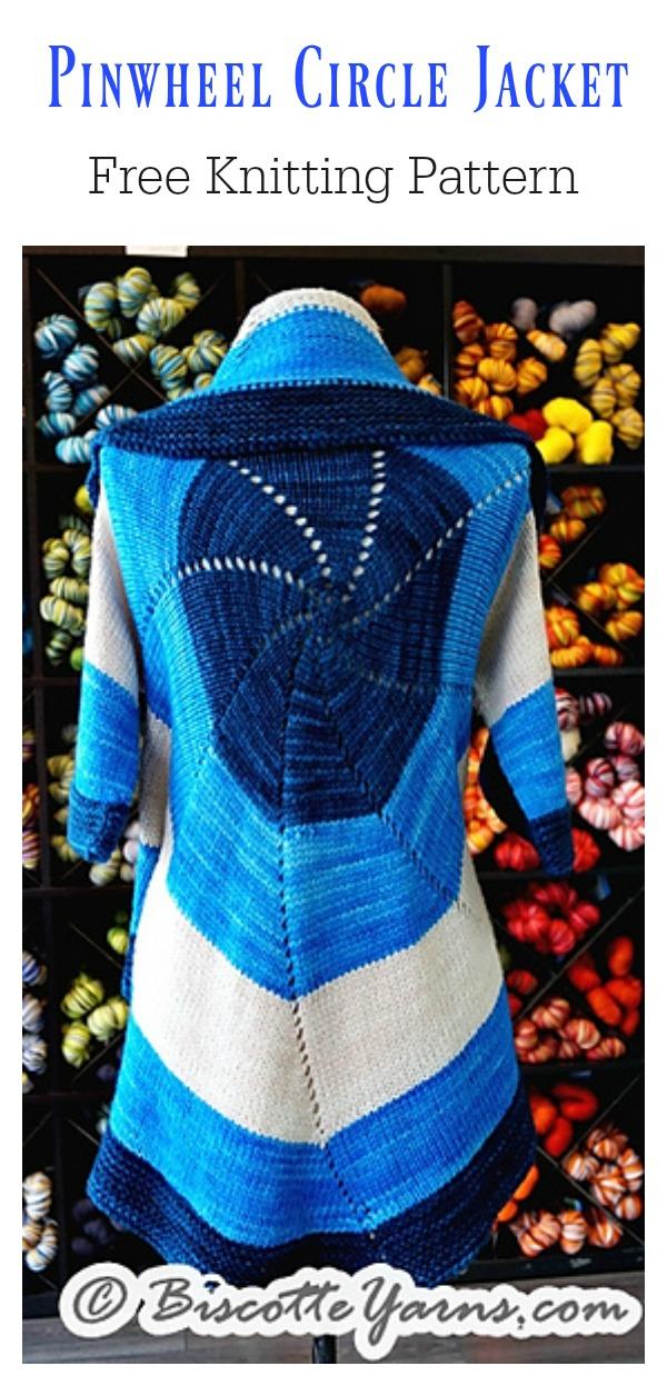 Biscottes Pinwheel Circle Jacket Free Knitting Pattern