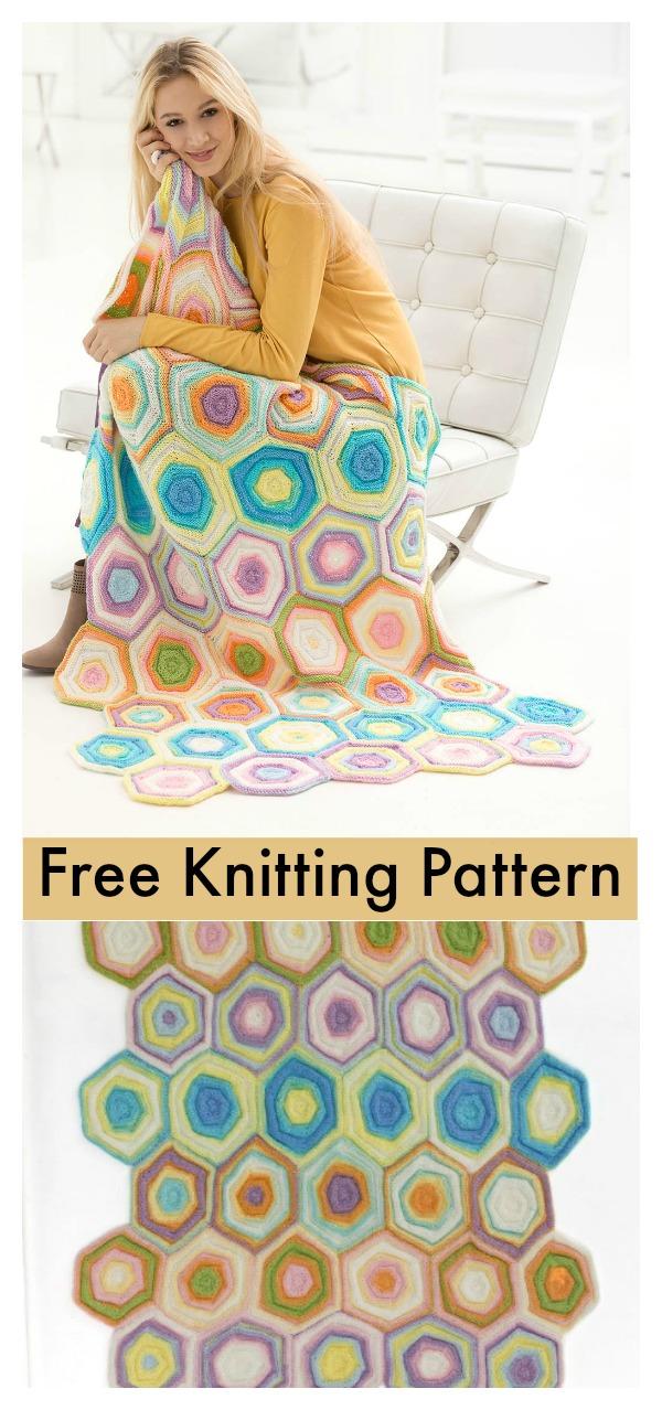 Charleston Garden Blanket Free Knitting Pattern