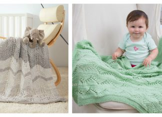 Chevrons Lace Baby Blanket Free Knitting Pattern