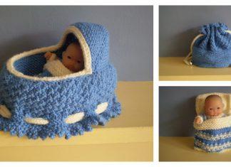 Doll Cradle Purse Free Knitting Pattern