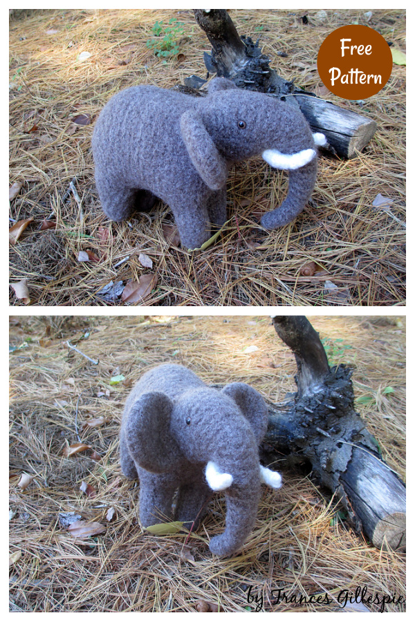 Ellery the Elephant Free Knitting Pattern
