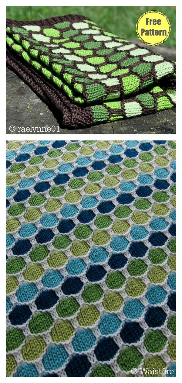 Honeycomb Stroller Blanket Free Knitting Pattern
