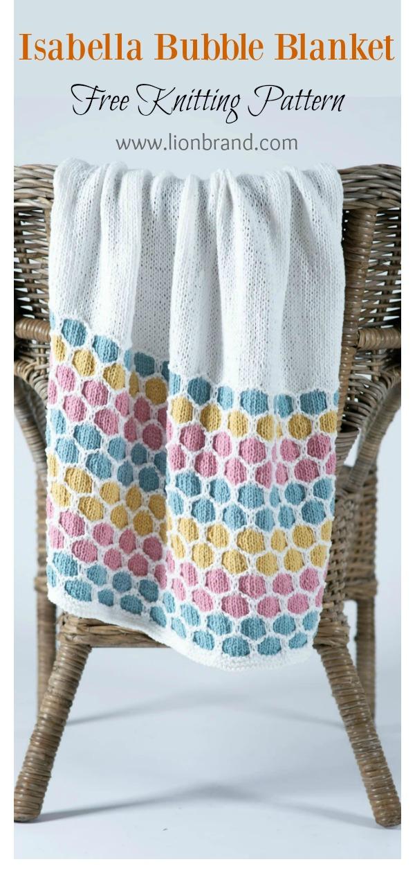 Isabella Bubble Blanket Free Knitting Pattern