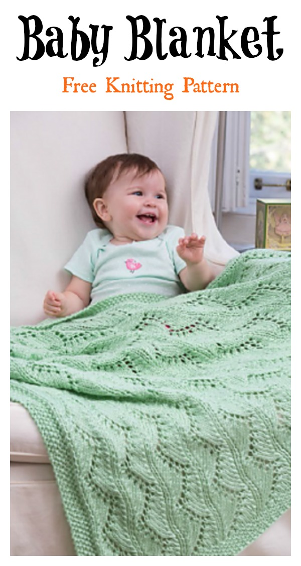 Lace Chevrons Baby Blanket Free Knitting Pattern