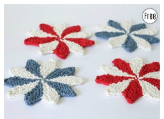 Pinwheel Coasters Free Knitting Pattern