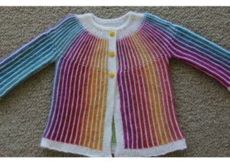 Rainbow Baby Sweater Free Knitting Pattern