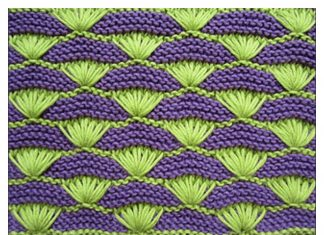 Shells on a Garter-stitch Background Free Knitting Pattern and Video Tutorial