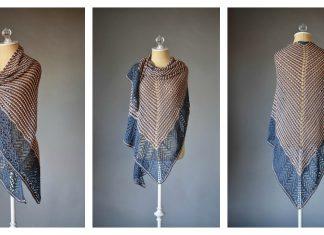 Stripes Lace Shawl Free Knitting Pattern