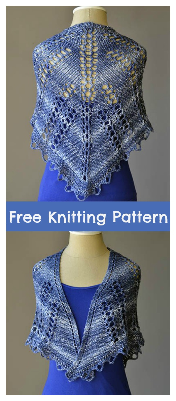 Triangle Lace Shawl Free Knitting Pattern