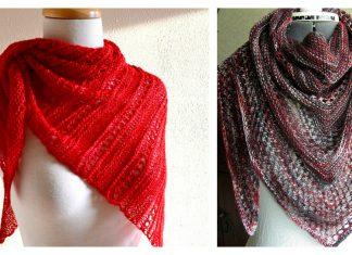 Triangle Lace Shawl Free Knitting Pattern
