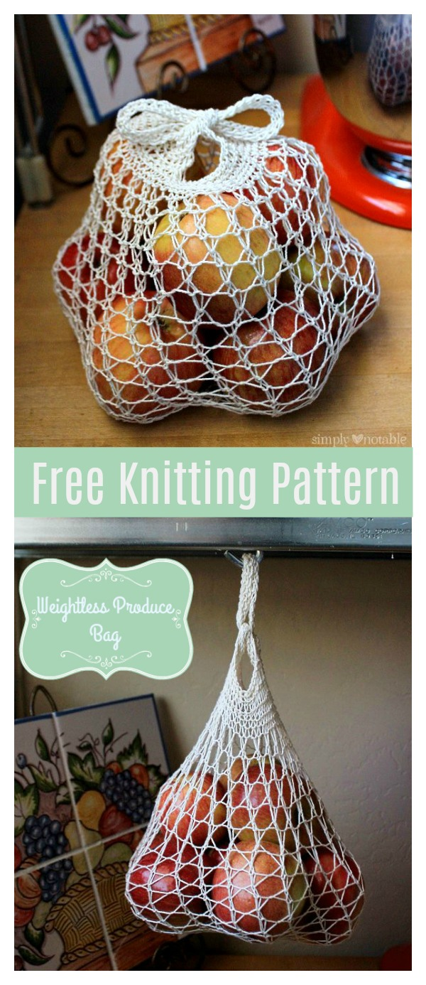 Weightless Mesh Market Bag Free Knitting Pattern