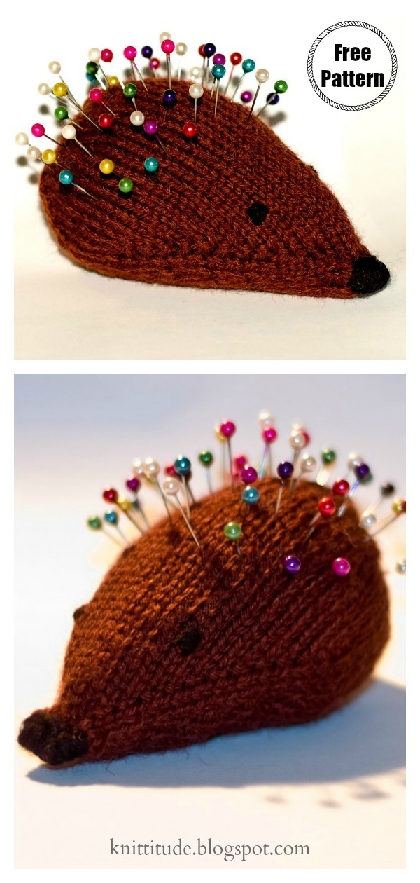 Amigurumi Hedgehog Pincushion Free Knitting Pattern