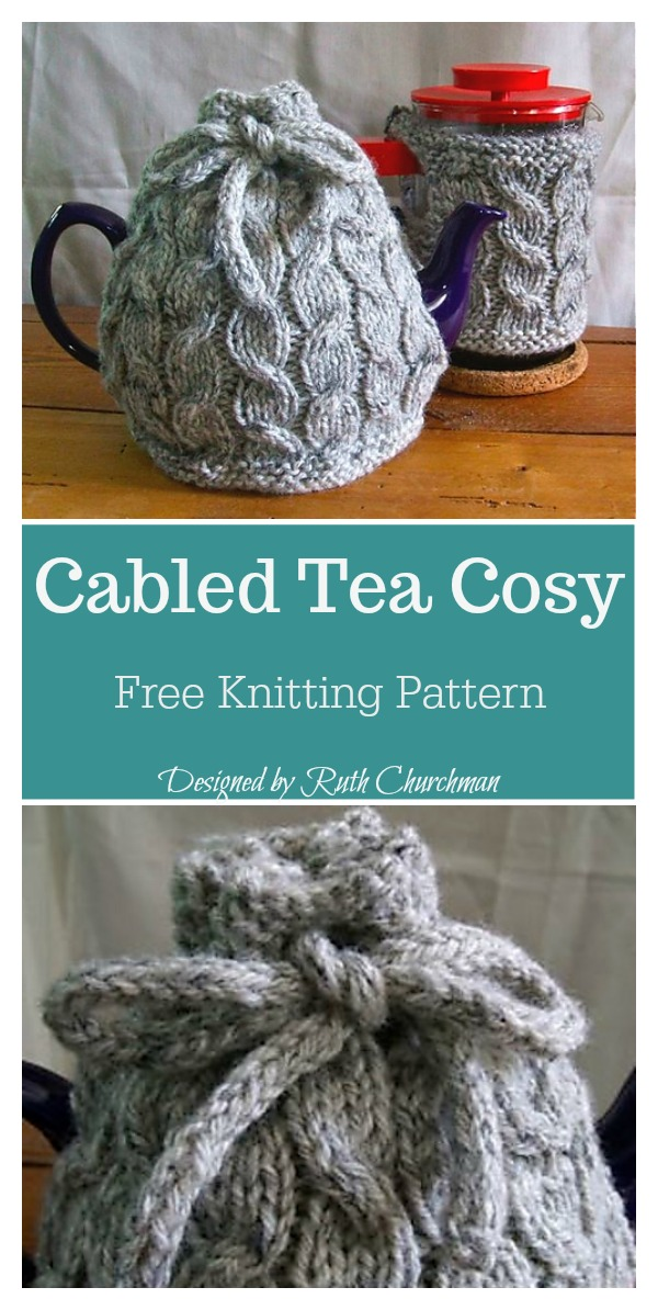 Cabled Tea Cosy Free Knitting Pattern