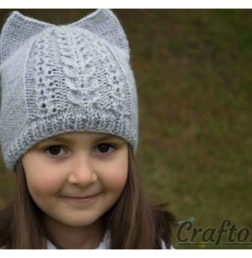 Cat Ear Hat Free Knitting Pattern