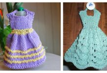 Dishcloth Dresses Free Knitting Pattern