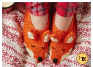 Fox Slippers Free Knitting Pattern