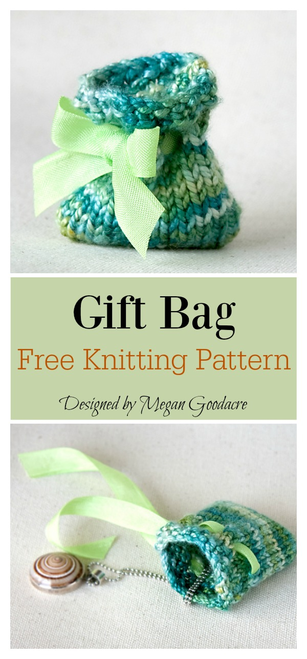 Gift Bag Free Knitting Pattern
