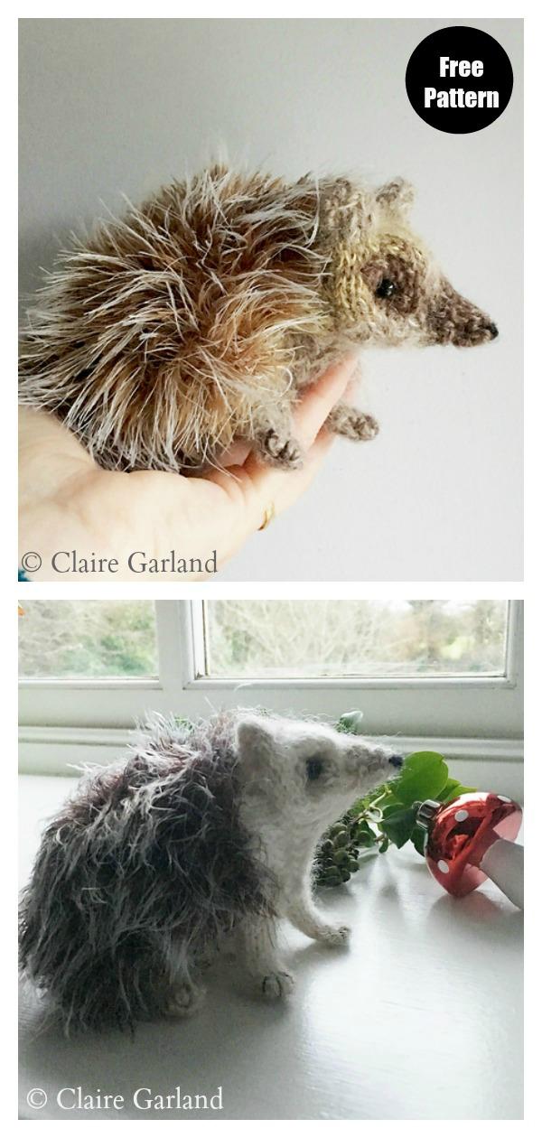 Hedgehog Free Knitting Pattern
