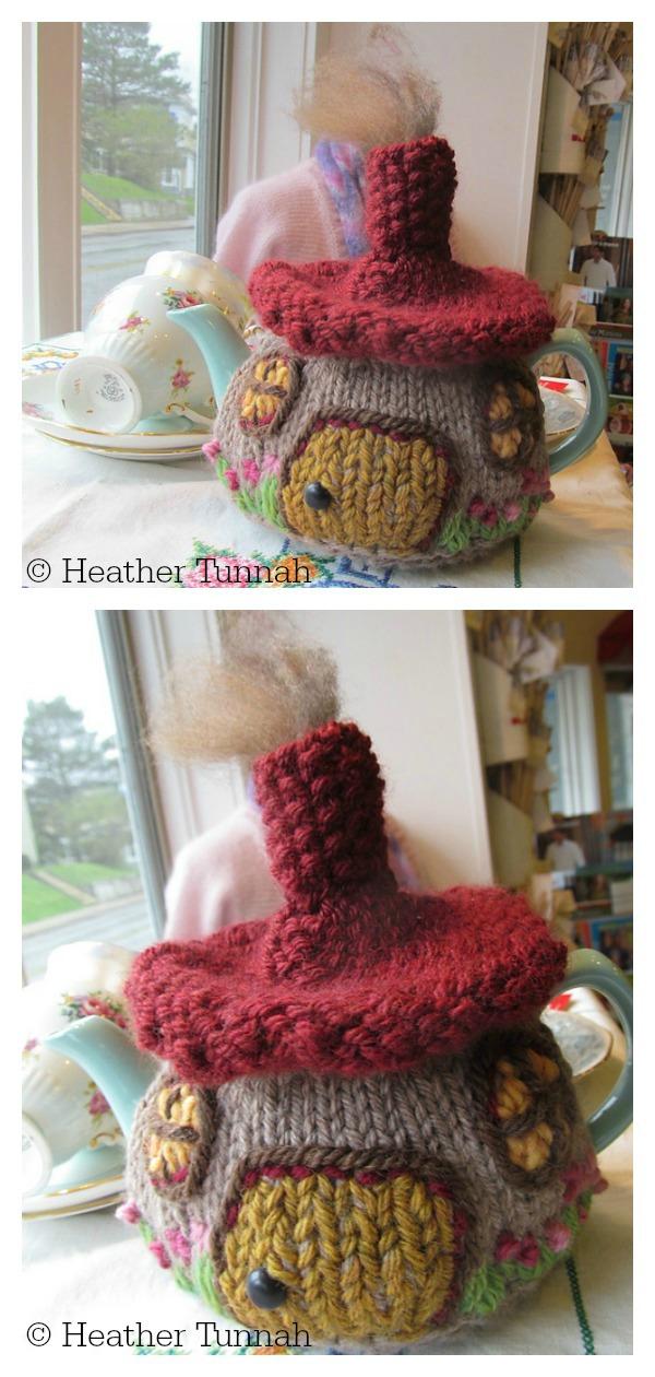 Hobbit Cottage Tea Cozy Free Knitting Pattern