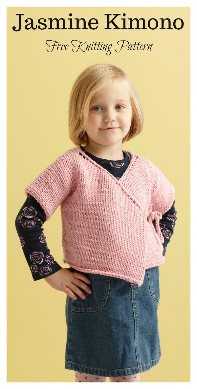 Jasmine Kimono Sweater Free Knitting Pattern