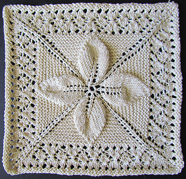 Leaf Motifs Free Knitting Pattern