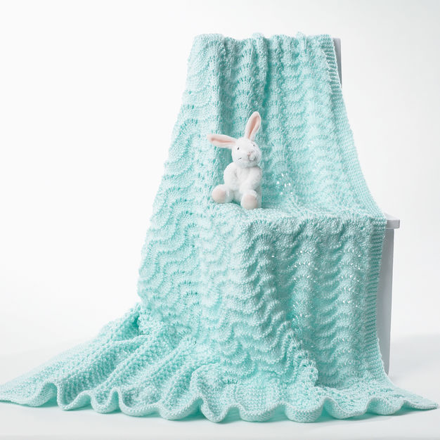 Ripple Lace Baby Blanket Free Knitting Pattern