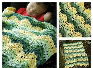 Road Trip Lace Baby Blanket Free Knitting Pattern