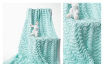 Road Trip Lace Baby Blanket Free Knitting Pattern