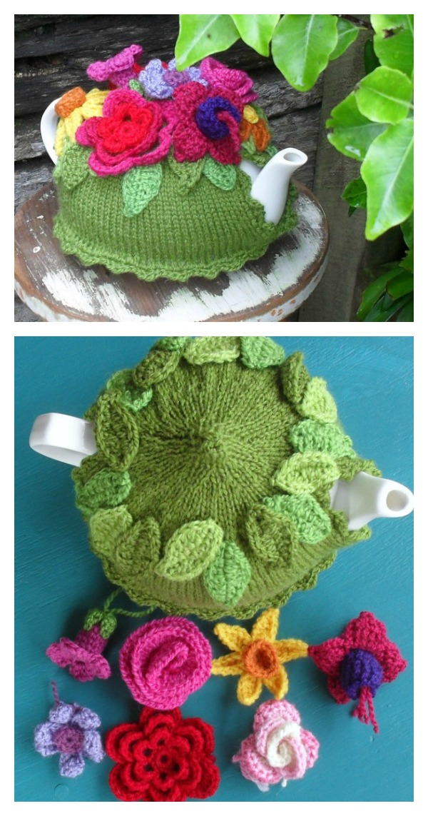 Spring Explosion Tea Cozy Free Knitting Pattern