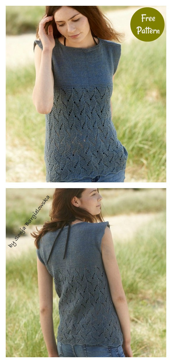 Talland Tee Summer Top Free Knitting Pattern