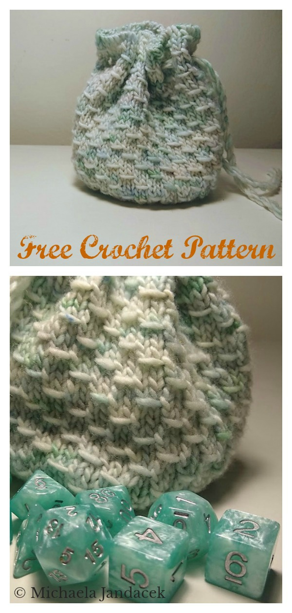 Treasure Bag Free Knitting Pattern