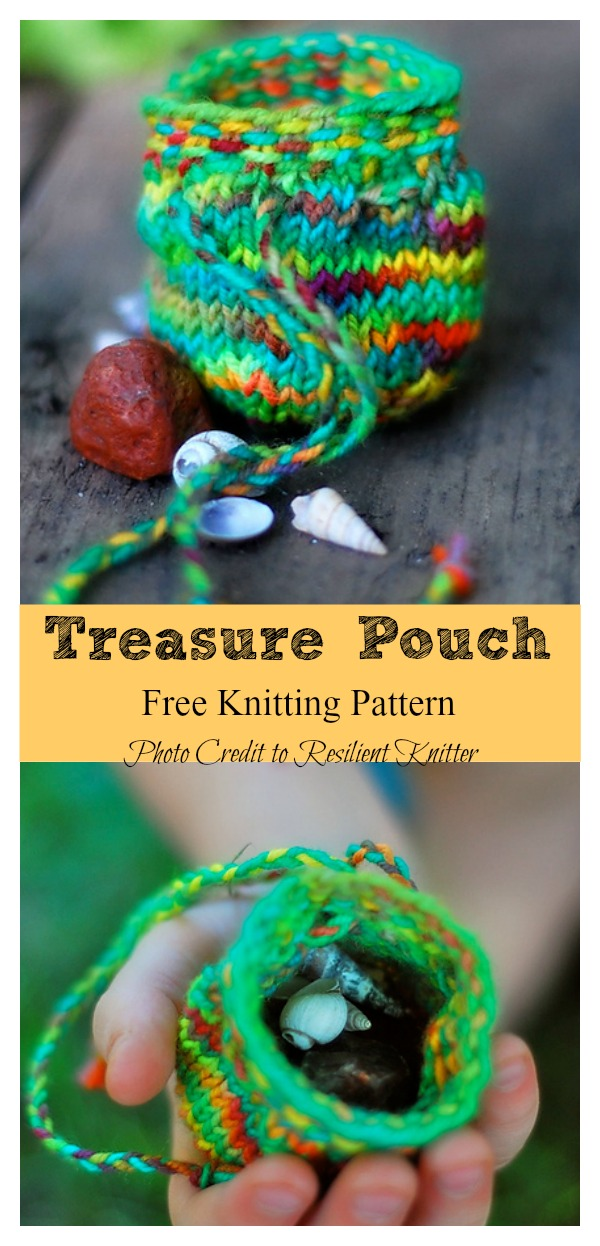 Treasure Pouch Free Knitting Pattern