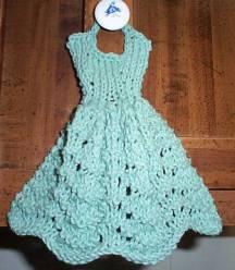 Dishcloth Dresses Free Knitting Pattern