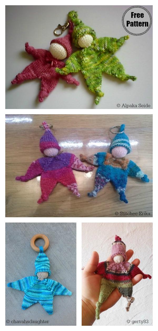 Adorable Mini Doll Keychain Free Knitting Pattern