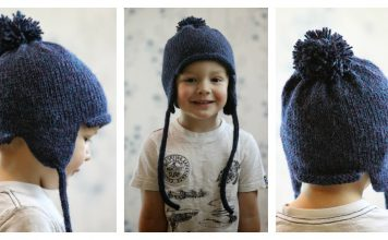 All in the Family Earflap Hat Free Knitting Pattern