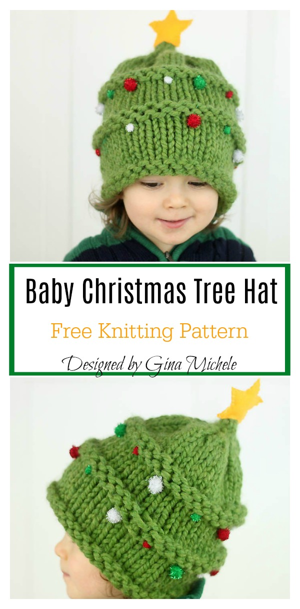 Baby Christmas Tree Hat Free Knitting Pattern 4c1a8c1441a