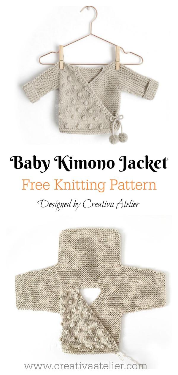 Baby Kimono Jacket Free Knitting Pattern