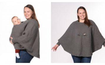 Babywearing Poncho Free Knitting Pattern