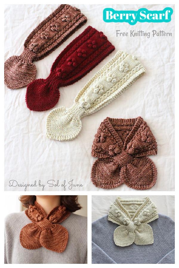 Berry Scarf Free Knitting Pattern