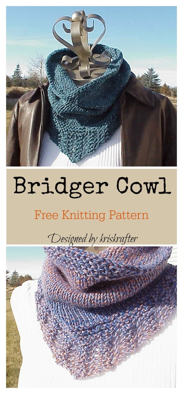 Bridger Cowl Free Knitting Pattern