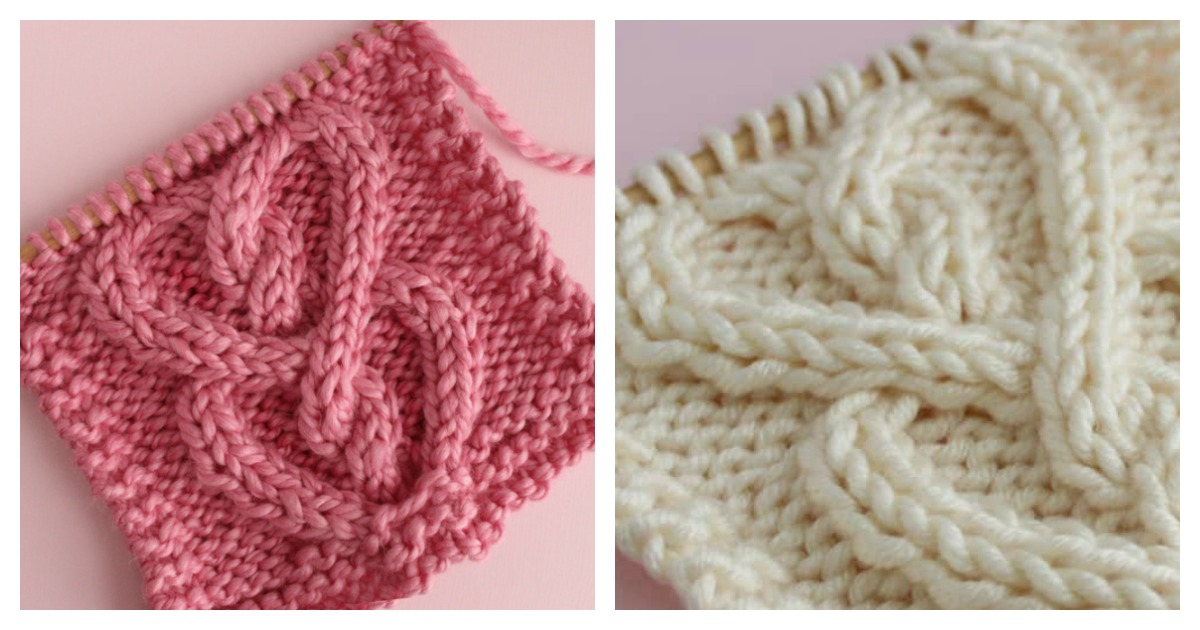 Cabled Heart Free Knitting Pattern And Video Tutorial