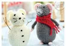 Christmas Mouse Free Knitting Pattern