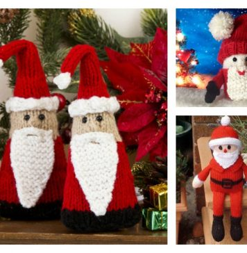 Christmas Santa Free Knitting Pattern