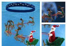 Christmas Santa Mobile Knitting Pattern