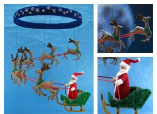 Christmas Santa Mobile Knitting Pattern