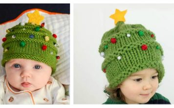 Christmas Tree Hat Free Knitting Pattern