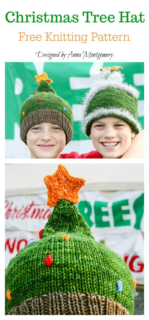 Christmas Tree Hat Free Knitting Pattern